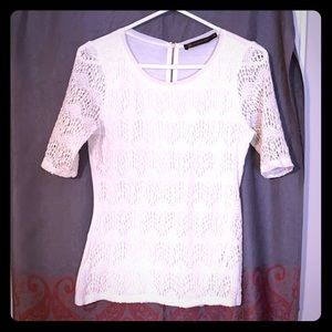 White lacy blouse